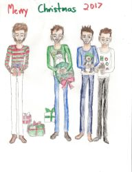 One Direction Christmas 2017 by Namine24