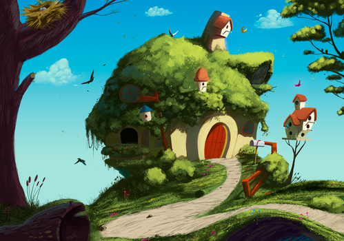 Fluttershy's home by DFer32