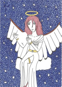 Contest : The angel among the stars by Jolsma