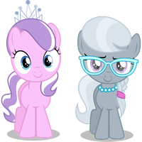 Diamond Tiara and Silver Spoon by CaliAzian