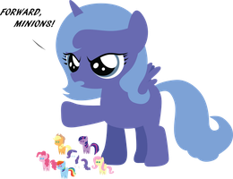Little Luna playing with her dolls by SundownGlisten