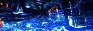 Metroid Metal: Sector 4- Electric Bath by LightningArts