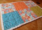 Soft Earth Tones quilted place mat by ChaosFay