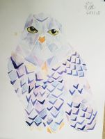 Sadly I smudged my owl by kittenen