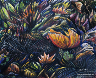 A Rainbow of Autumn Leaves [Colored Pencil] by Adam-The-Person