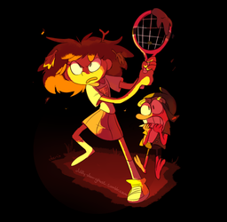 Amphibia - Anne and Sprig by Milkii-Ways