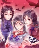 sailor mars phobos deimos by drchopper7