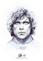 Tyrion ink portrait by SoniaMatas