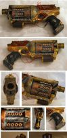 Steampunk Maverick Skull X by ajldesign