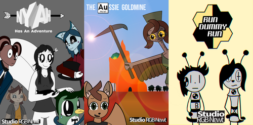 Placeholder Studio RGB-Newt Posters by NeonWabbit