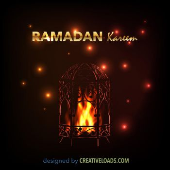 Ramadan Lantern with Fire by Roberis