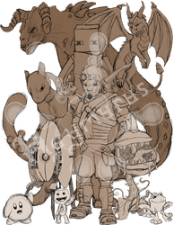 (some of) My Favorite Game Characters by Haymurus