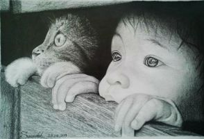 The Boy Drawing by mazdisna