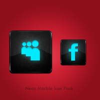 Neon Marble Icon Pack of 15 by azad720