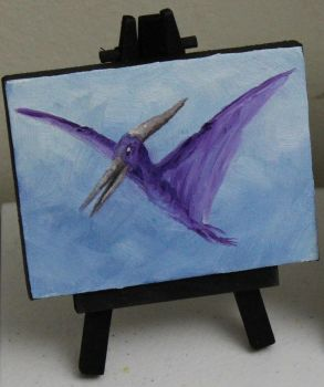 Purple Pteranodon by crazycolleeny