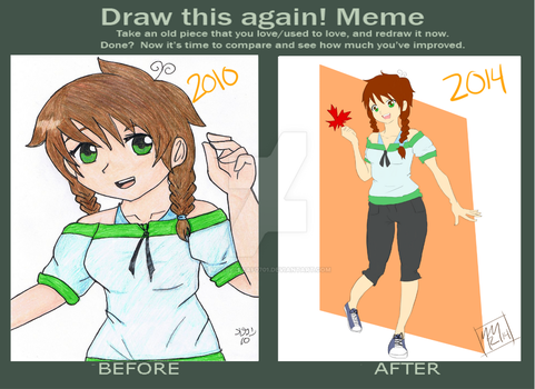 Draw This Again: OC by maypleleaf0701