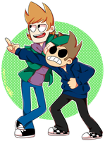 just imagine tord at the left side by aoirie