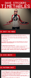 Dave Strider Timetable Tutorial by lunarumms