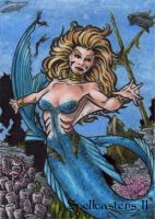Mermaid Sketch Card - Spellcasters II by tonyperna