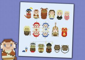 Mini People - Labyrinth cross stitch pattern by cloudsfactory