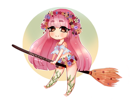 CLOSED: Flower Witch - AUCTION by Mousehearts