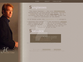 H - Horatio Caine Fanlisting by PinkWoods