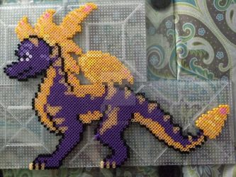 Spyro Super Flame Perler by Neeko96