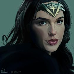 Diana Prince - Wonder Woman / Krita Painting by theclumsyandshy