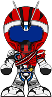 Chibi Kamen Rider Mach - Type DeadHeat by Zeltrax987