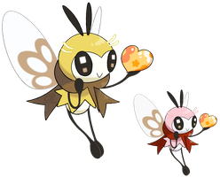 Pokemon Fan Art - Ribombee by TaylorTrap622