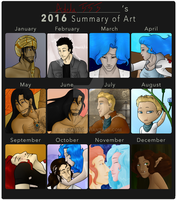 2016 Summary of Art by Adela555