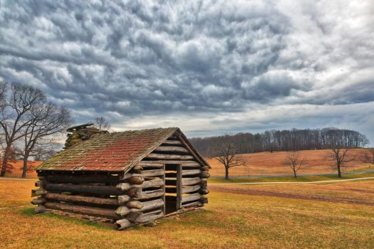 Valley Forge Cabin Cloudscape by somadjinn