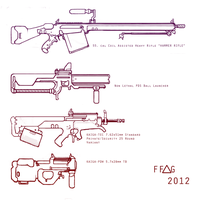 Weapons designs 1 by FutureFavorite