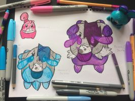 Happiny, Britannia Chansey and Britannia Blissey