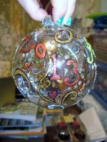 Swirls Ornament by MyThoughtsAreDeep
