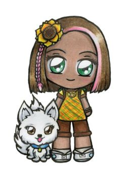 Alle and Miki Chibi by sakkysa