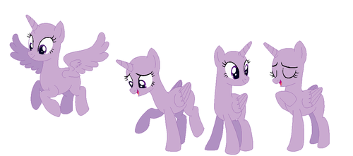 Some Twilight Sparkle/Alicorn Bases by Iesbeans