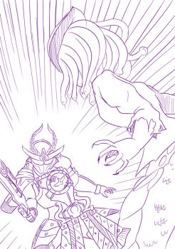3 Kamen Rider Gaim v Crused mark Sakura by mattwilson83