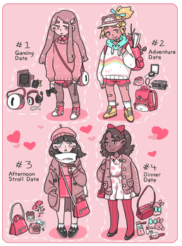 Valentine's Day Adopts -Which date suits you? OPEN by tritn