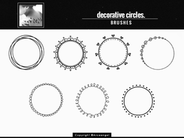 + Decorative circles { b r u s h e s } by Arcaangel