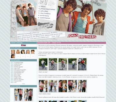 Jonas Brothers Layout 3 by ooliyah