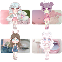 pink tinted girls Aesthetic Adopts [CLOSED] by mellowshy
