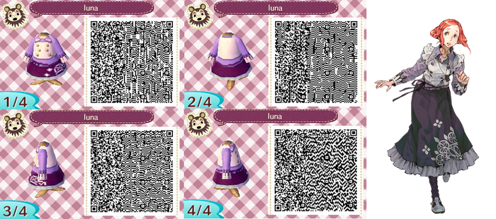 Luna Virtue's Last Reward - ACNL QR by Lebasy