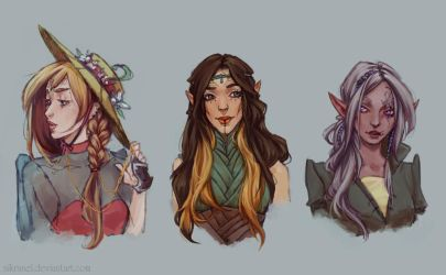 Random elven girls by Nikranel