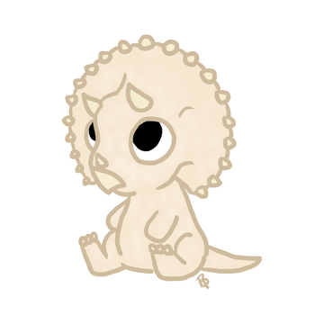Baby Triceratops by Brittany-Purcell
