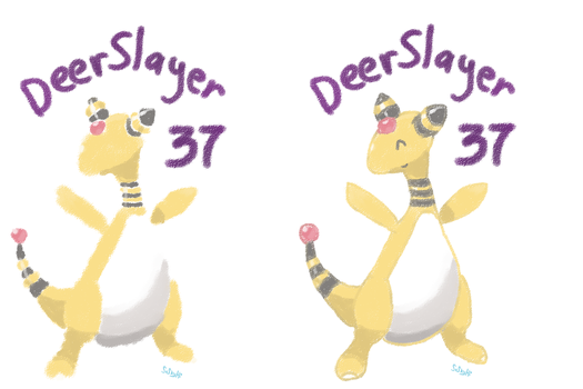 Ampharos for DeerSlayer37 by ehcyt