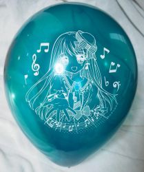 Music girl 16inches jewel color balloon by Solatokimi