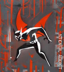 Batman Beyond Stencil by StencilAddict