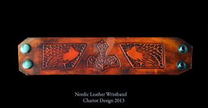 Nordic Leather Wristband by Chariot-Design