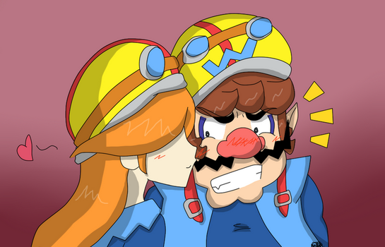 Request: Wario and Mona by kasanexkagamine